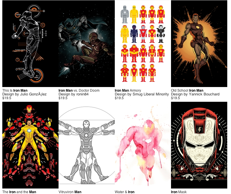 Threadless Iron Man Tshirts